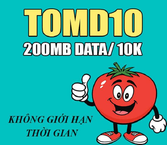 Gói cước TOMD10 phù hợp với thuê bao ít khi sử dụng data 4g của nhà mạng viettel để truy cập internet