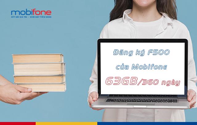 Cách đăng ký gói cước F500 MobiFone để nhận 63GB dung lượng